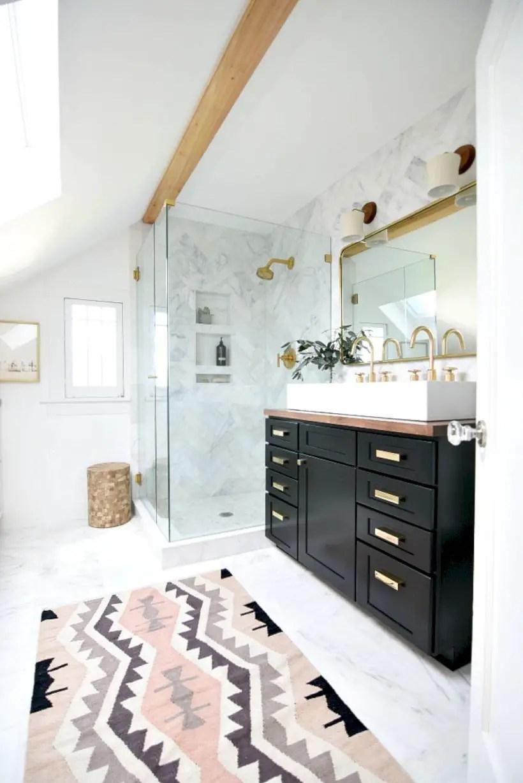 Best modern vintage bathroom reveal 40
