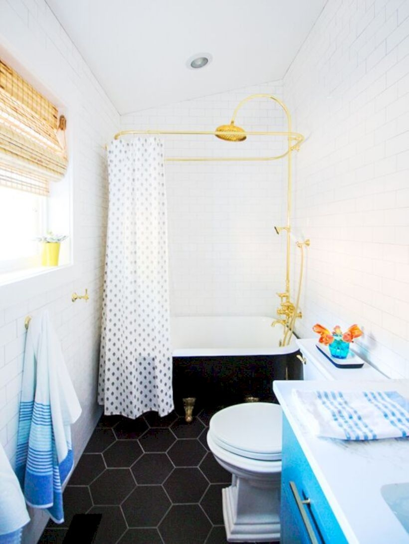 Best modern vintage bathroom reveal 41