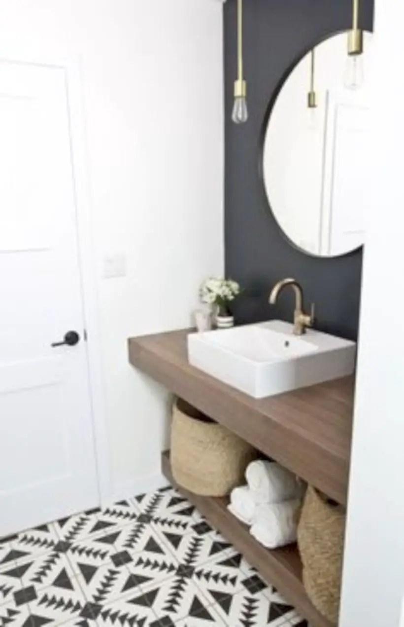 Best modern vintage bathroom reveal 43
