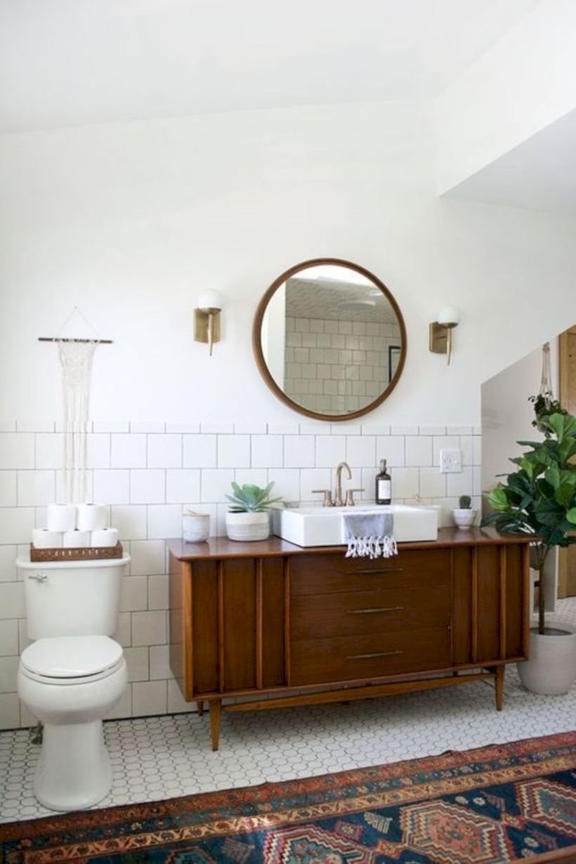 Best modern vintage bathroom reveal 47