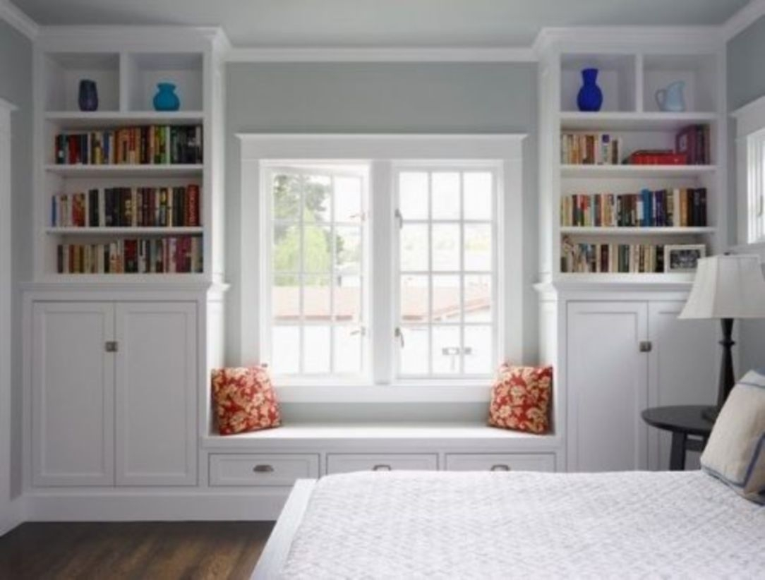 Built-in bench for your basement design ideas 10