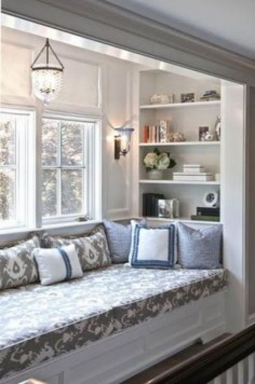 Built-in bench for your basement design ideas 12