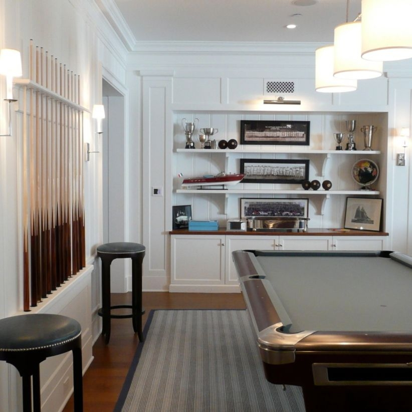Built-in bench for your basement design ideas 21