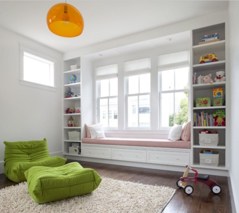 Built-in bench for your basement design ideas 39
