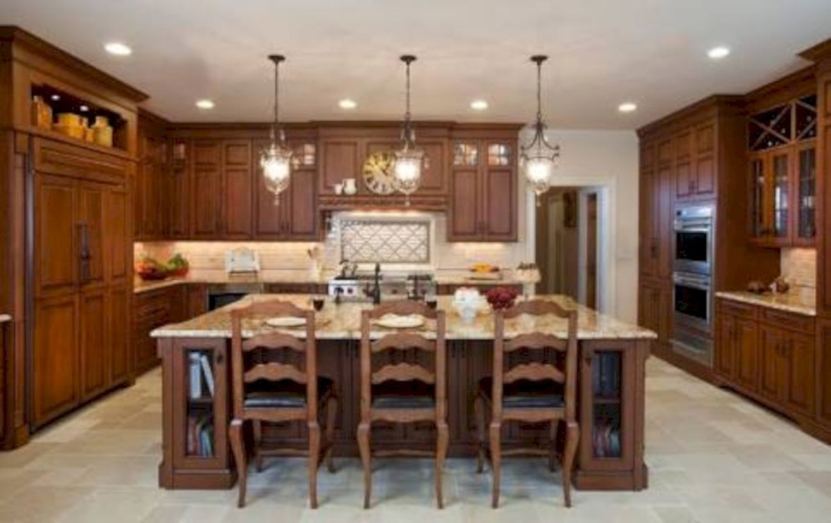 Charming custom kitchens cabinets designs 07