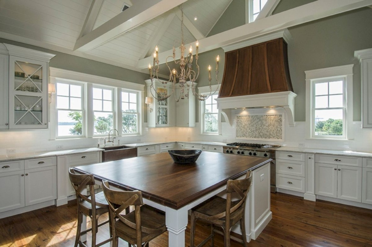 Charming custom kitchens cabinets designs 15