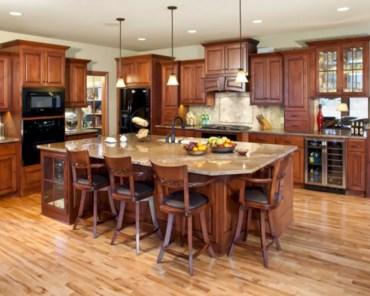 Charming custom kitchens cabinets designs 19