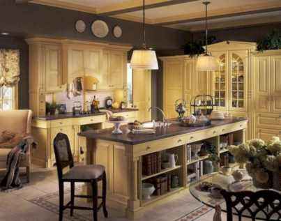 Charming custom kitchens cabinets designs 20