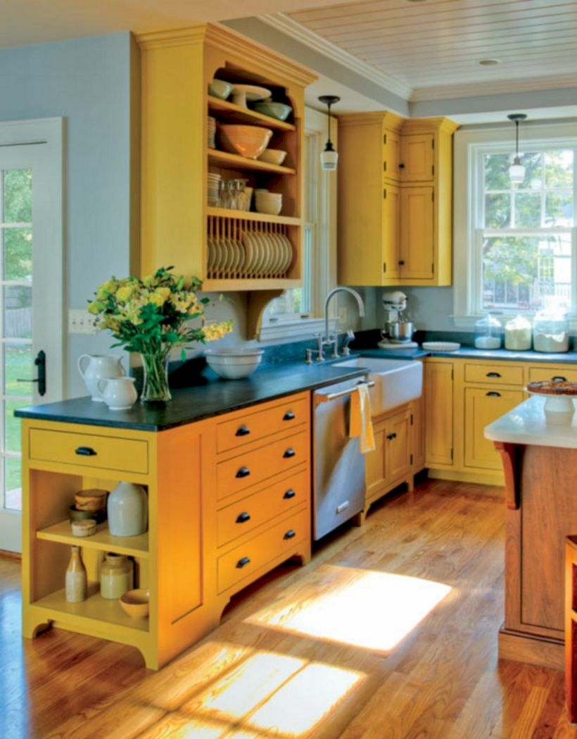 Charming custom kitchens cabinets designs 21