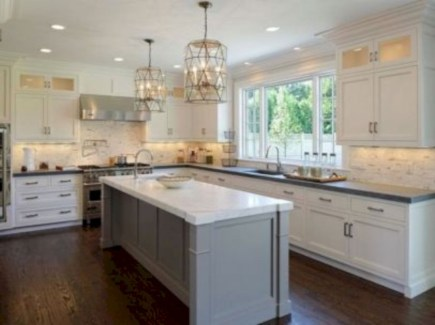 Charming custom kitchens cabinets designs 36