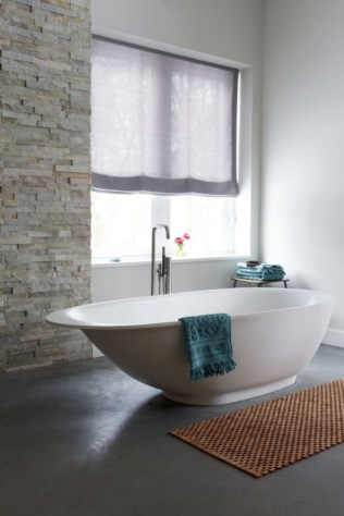 Creative bathroom with soft stone floor to massage your feet 09