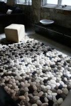 Creative bathroom with soft stone floor to massage your feet 15