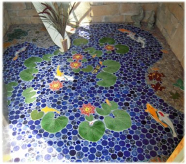 Creative bathroom with soft stone floor to massage your feet 21