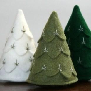 Diy christmas cone trees 03