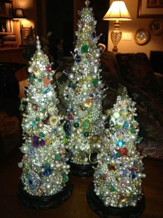 Diy christmas cone trees 08
