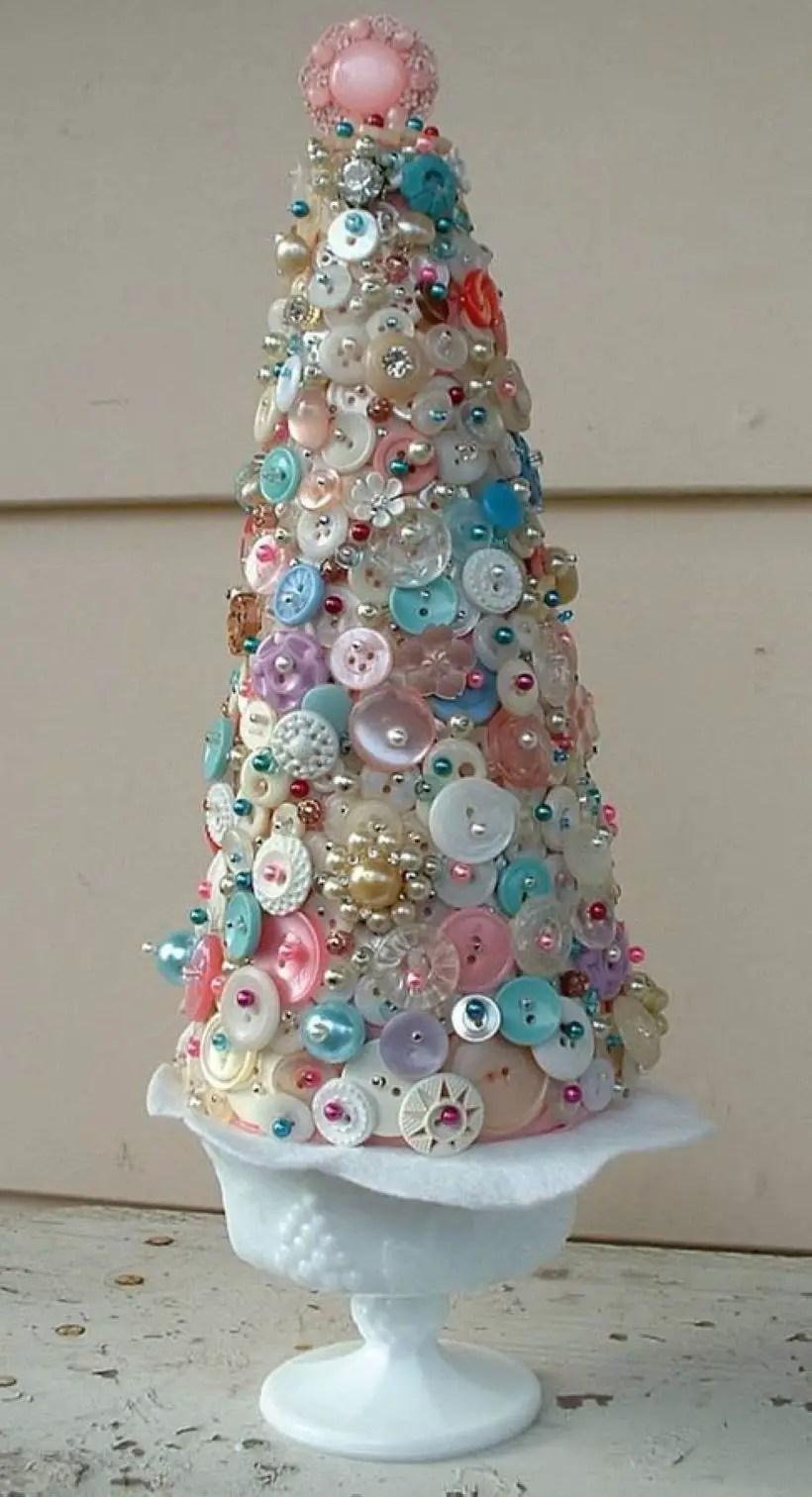 Diy christmas cone trees 10