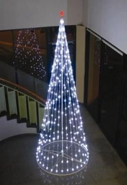 Diy christmas cone trees 11