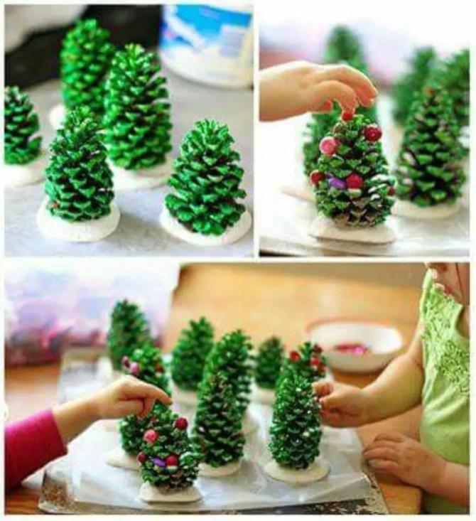 Diy christmas cone trees 14
