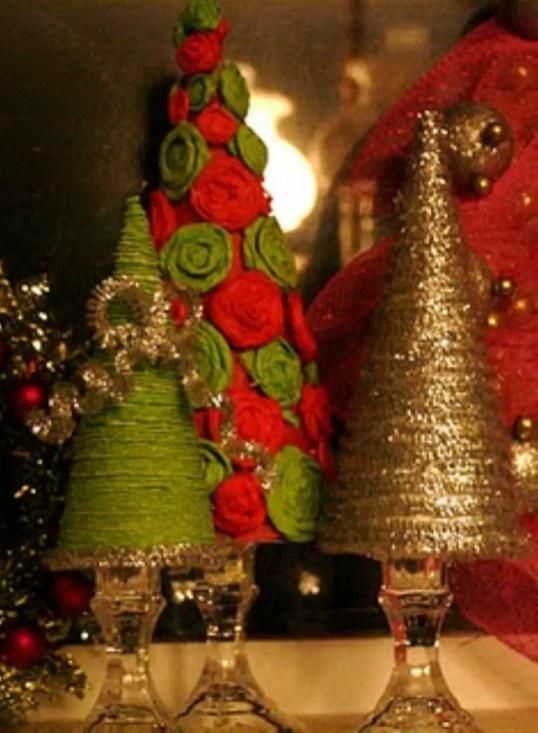Diy christmas cone trees 17