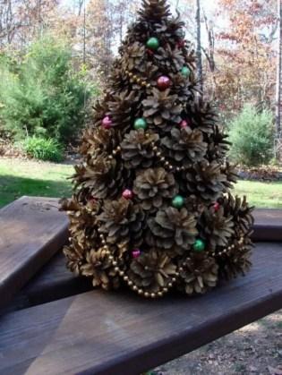 Diy christmas cone trees 22