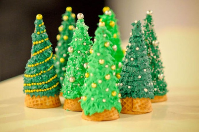 Diy christmas cone trees 28