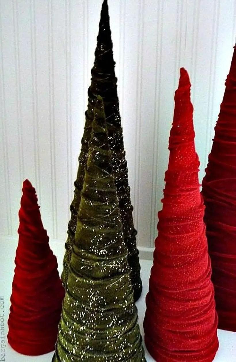 Diy christmas cone trees 40