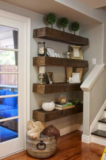 Diy wall shelves ideas for living room decoration 10