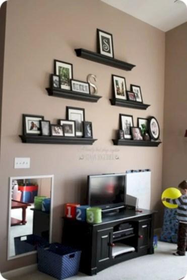 Diy wall shelves ideas for living room decoration 24
