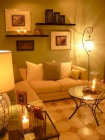 Diy wall shelves ideas for living room decoration 27