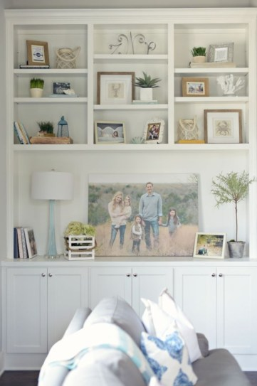 Diy wall shelves ideas for living room decoration 30