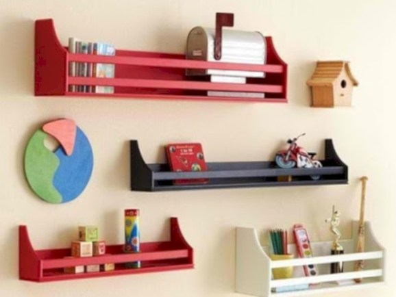 Diy wall shelves ideas for living room decoration 33