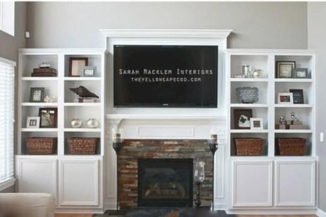 Diy wall shelves ideas for living room decoration 35