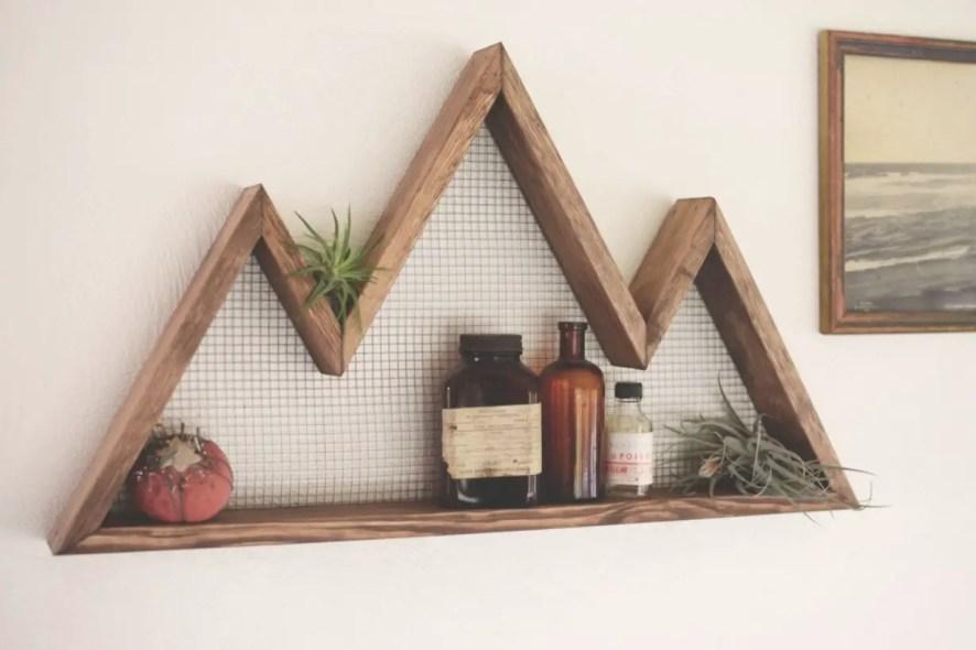 Diy wall shelves ideas for living room decoration 39