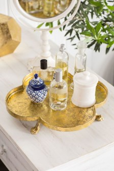 Easy diy footed vanity tray 11