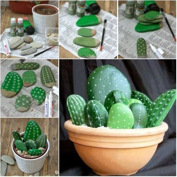 Faux cactus and succulent projects and ideas to decorate your home 09