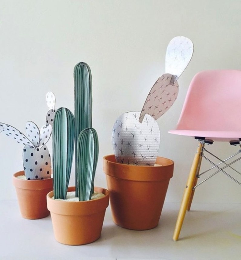 Faux cactus and succulent projects and ideas to decorate your home 29