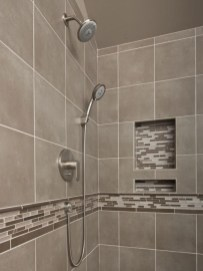 Half wall shower for your small bathroom design ideas 12