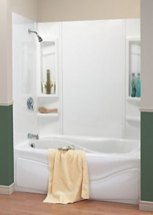 Half wall shower for your small bathroom design ideas 33