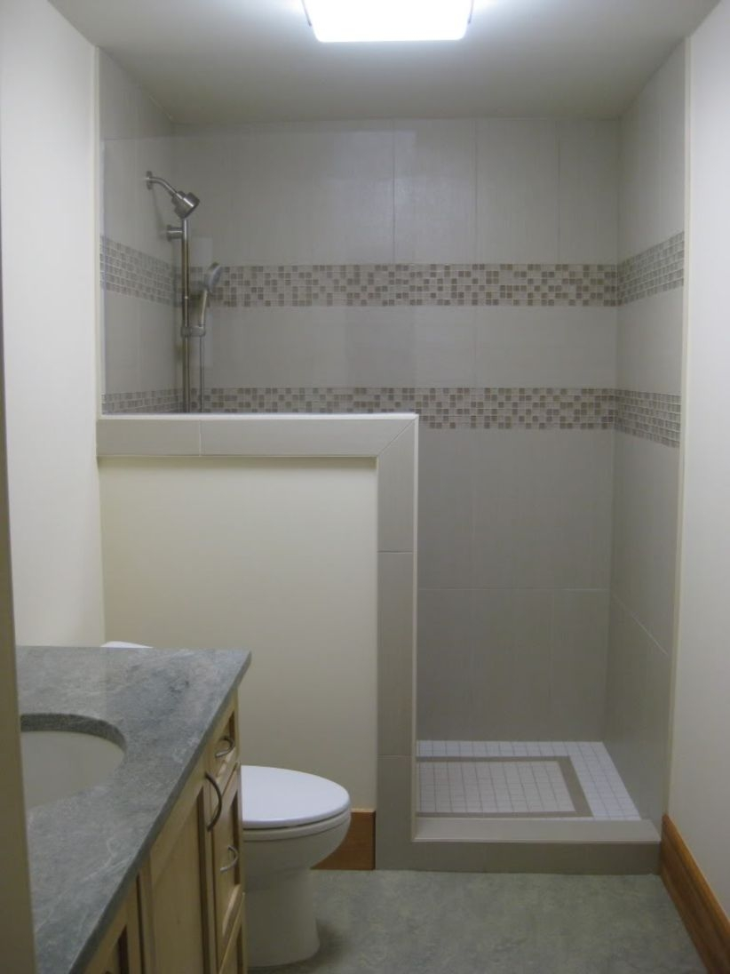 38 Half Wall Shower for Your Small Bathroom Design Ideas ...