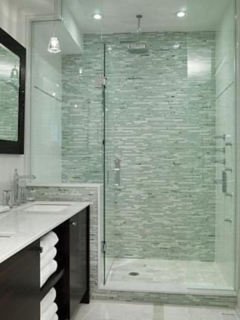38 Half Wall Shower for Your Small Bathroom Design Ideas ...