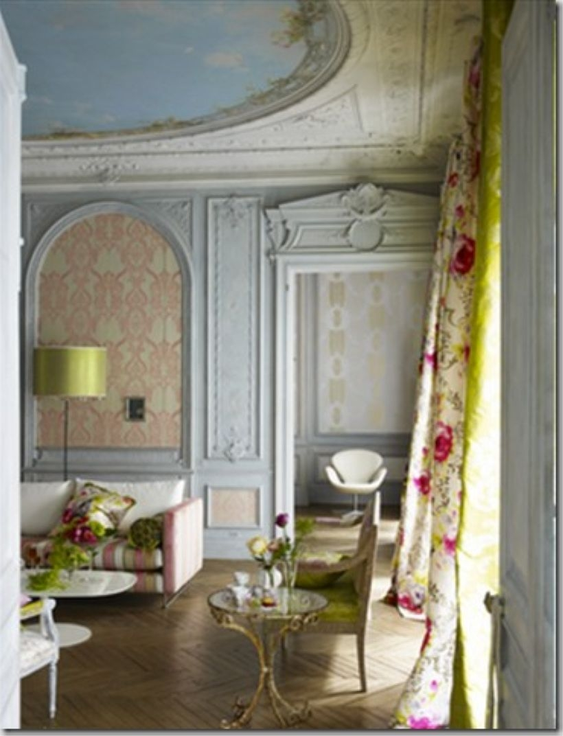 High ceilings accent wall with traditional and classic look 12