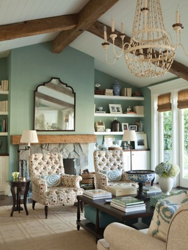 High ceilings accent wall with traditional and classic look 32