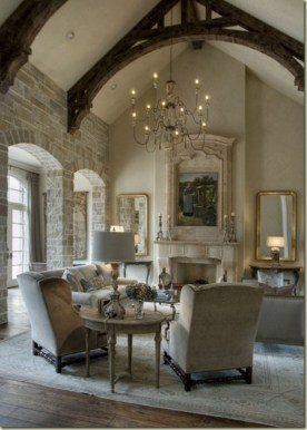 High ceilings accent wall with traditional and classic look 38