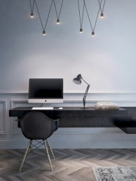 Neat and clean minimalist workspace design ideas for your home 11