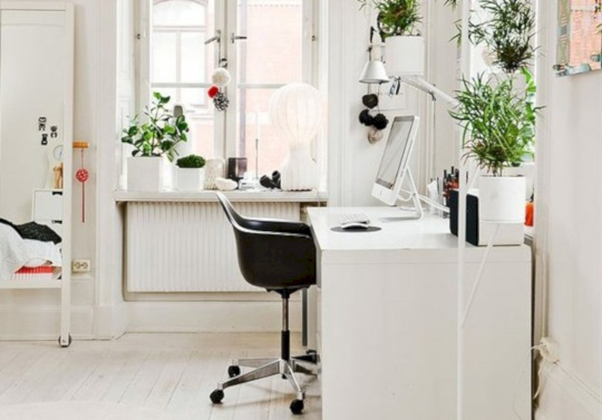 Neat and clean minimalist workspace design ideas for your home 16