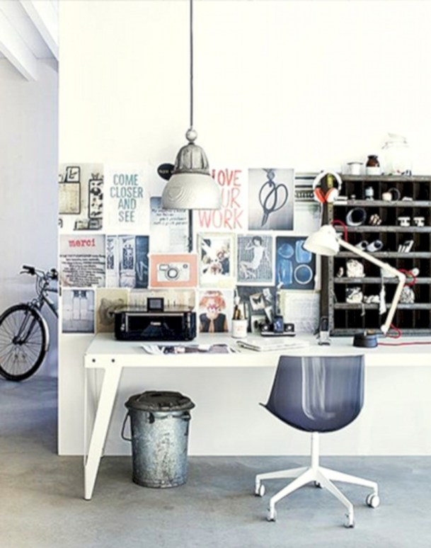 Neat and clean minimalist workspace design ideas for your home 23