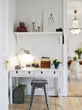 Neat and clean minimalist workspace design ideas for your home 24