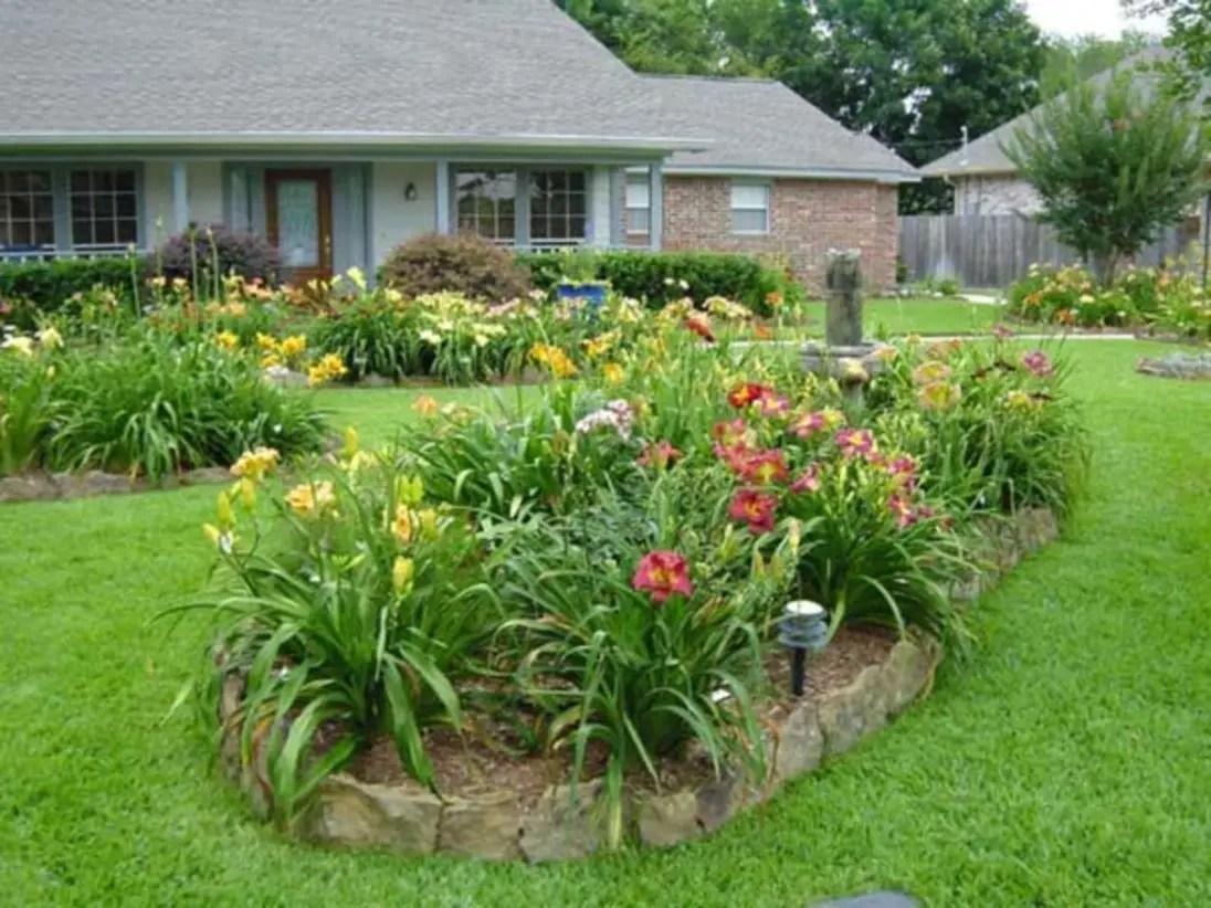 49 outdoor garden decor landscaping flower beds ideas for Flower garden landscape