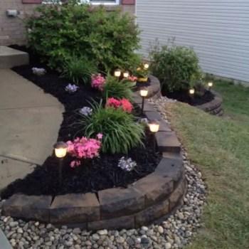 Outdoor garden decor landscaping flower beds ideas 14
