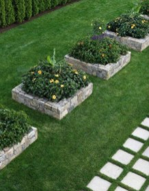 Outdoor garden decor landscaping flower beds ideas 27